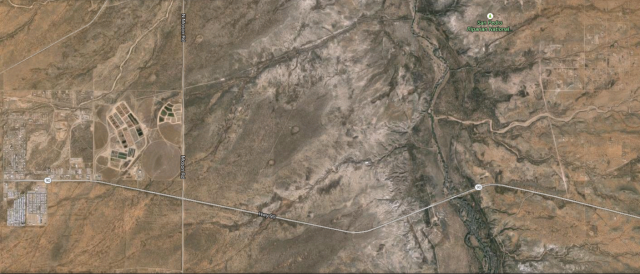 Google Earth Image Showing the Disparity Between the San Pedro River Corridor and the Surrounding Area.